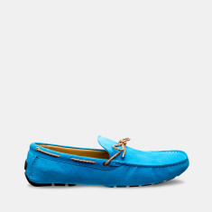 Rope Suede Loafers Men's Shoes In Sky Blue