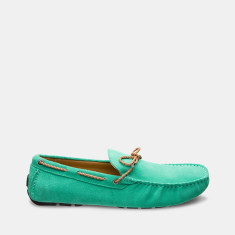 Rope Suede Loafers Men's Shoes In Pistachio