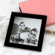 Personalised Birthday Mini Photo Coaster