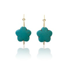 Luck Turquoise Hoops