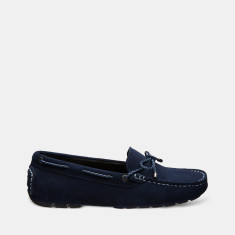 Women's Jade Rope Suede Loafers In Midnight Blue
