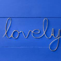Gold Script Wire 'Lovely' Sign