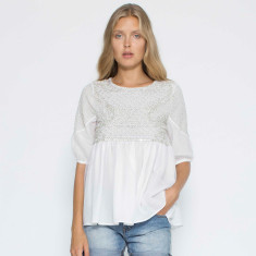 Pearl Embroidered Blouse