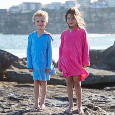 Pink towelling coverup in soft stretch cotton