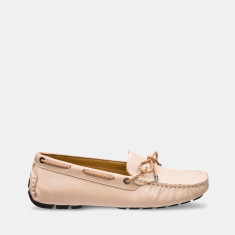 Women's Jade Rope Leather Loafers In Caramel