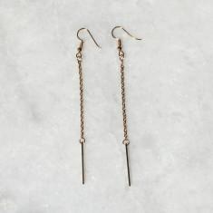 Lara drop chain earrings in gold