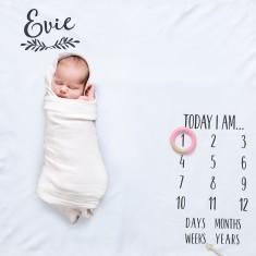 Laurel Baby Milestone Blanket