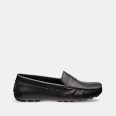 Women's Jade Flap Leather Loafers In Black