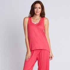 Sydney 7/8 watermelon bamboo pant set