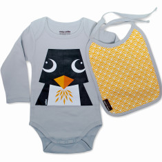 Penguin set onesie and bib