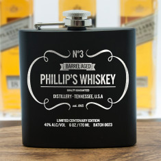 Personalised Vintage Style Whiskey Hip Flask