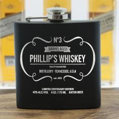 Personalised Vintage Style Whiskey Hip Flask
