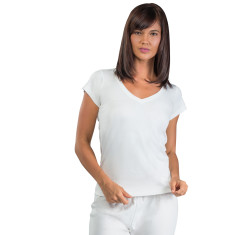 Organic pima cotton essential t-shirt in milk