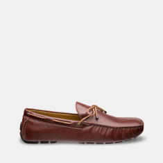 Rope Leather Loafers Men's Shoes In Dark Brown