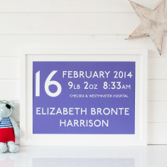 Personalised New Baby Destination Print