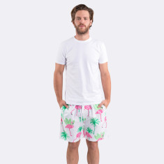 Flamingo men's sleep shorts