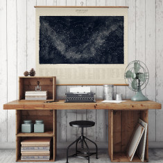 Star Map - 88 Constellations Print