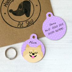 Pomeranian Personalised Pet ID Tag