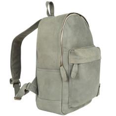 Suede Leather Backpack/Rucksack in Vintage Grey
