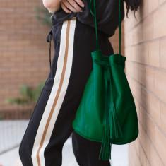 The Leafy Green Bucket Shoulder Bag