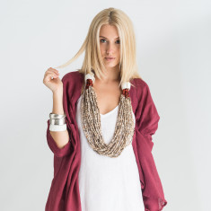 Tribal Obi Shell Statement Neckpiece