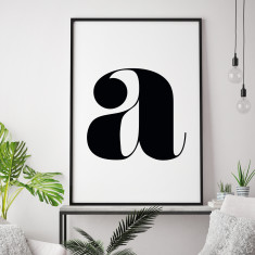 Lower Case Personalised Letter Print