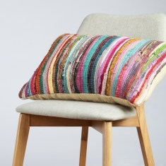 Chindi cushion cover