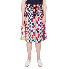 Multi Colour A-Line Print Skirt