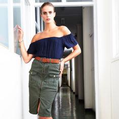 Military Khaki Skirt