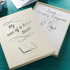 Personalised Luxury White Nursery Rhymes Book