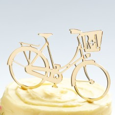 Personalised Bicycle Wedding Cake Topper