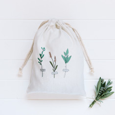 Botanic stems canvas gift bag