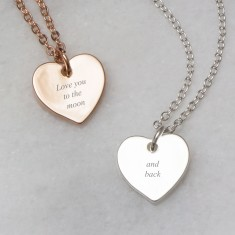 Love you to the moon and back engraved necklace