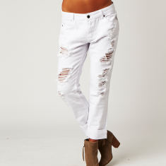 Boyfriend Jean in White
