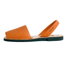 Morell leather sandals in orange