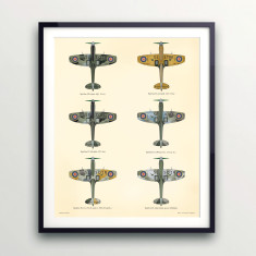 Spitfire wall print