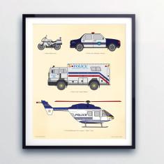 Police chart print