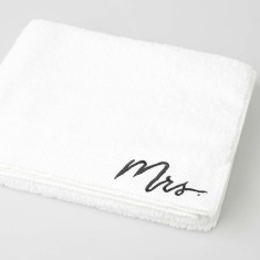 Typography Embroidered Mrs Bath Towel