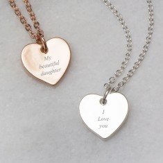 My beautiful daughter message necklace