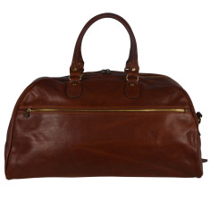 Vinci leather duffel bag in brown