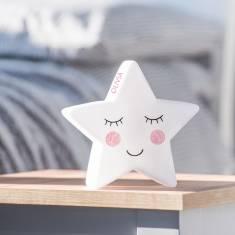 Personalised Star Face Night Light
