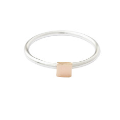 Gold square stackable ring