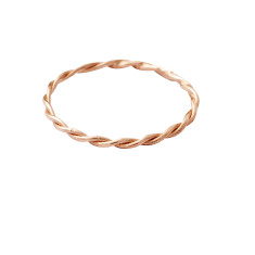 Gold twistie ring