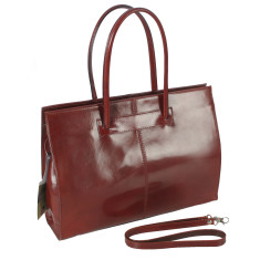 Cartella brown leather work bag