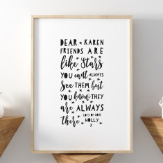 Personalised Monochrome Friendship Print