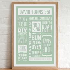 Personalised Memories Print