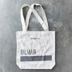 Balmain canvas tote bag