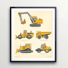Construction truck print