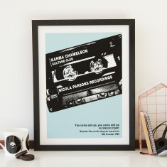 Personalised Number One Cassette Print