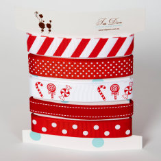 Ribbon card in Christmas candy